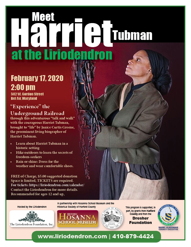 Meet Harriet Tubman at the Liriodendron